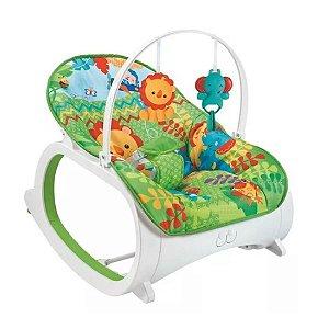 Cadeira de Descanso Musical para Bebê Safari Verde