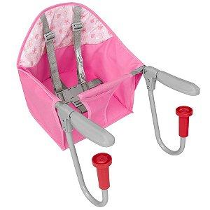 Cadeira de Refeição Bebê Portátil para Mesa FIT Rosa Tutti Baby