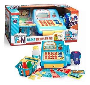 Caixa Registradora Infantil Creative Fun Azul Multikids