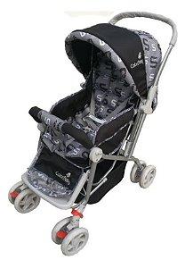 Carrinho de Bebê Passeio Confort com Alça Reversível Preto
