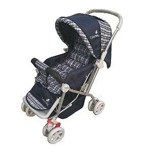 Carrinho de Bebê Passeio Confort com Alça Reversível Azul
