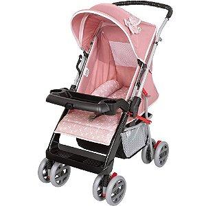Carrinho de Bebê e Berço Thor Plus Rosa Coroa Tutti Baby