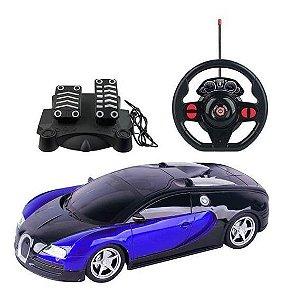 Carrinho de Controle Remoto Racing Control Midnight Preto e Azul
