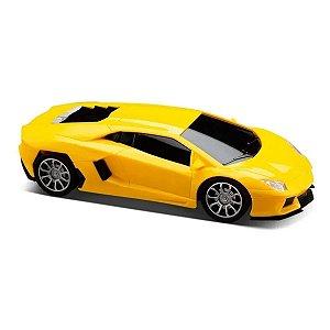 Carrinho de Controle Remoto Racing Control Nitro Amarelo