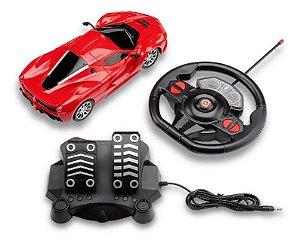 Carrinho de Controle Remoto Racing Control Speed X Vermelho