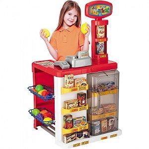 Mercadinho Infantil Caixa Registradora Brinquedo Magic Toys