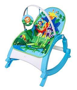 Cadeira de Descanso Musical para Bebê Snack Azul