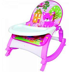 Cadeira de Descanso Musical para Bebê Snack Rosa