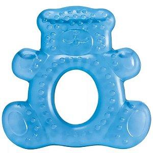 Mordedor Para Bebê Com Agua Teddy Bear Azul