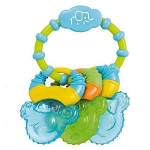 Mordedor para Bebê com Gel Cool Rings Azul Multikids