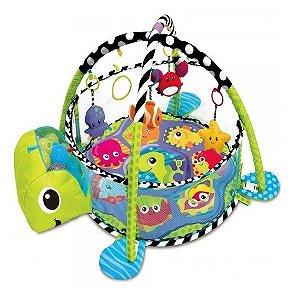 Tapete de Atividades para Bebê Com Piscina e Bolinhas Tartaruga