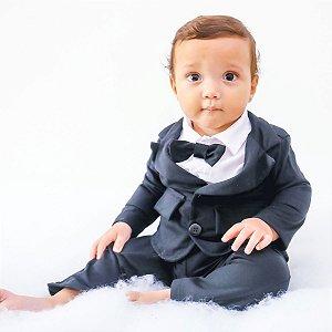 Terno Social para Bebê Com Gravata para Festas, Casamento e Batizado