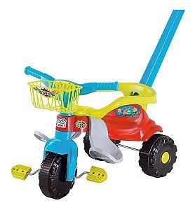 Triciclo Motoca Infantil Bebê Festa Azul Magic Toys
