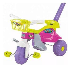 Triciclo Motoca Infantil Bebê Festa Rosa Magic Toys