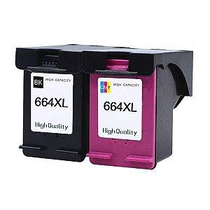 Kit Cartucho HP 664XL Compatível 1115 2136 3636 3836 3536 4676