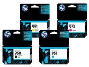 Kit Cartucho HP 950 e HP 951 Original - 1 de cada cor