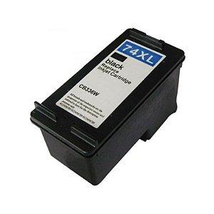 Cartucho Compatível HP 74XL Preto 25ml CB336W D4260 J5780 C4280 C4480