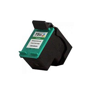 Cartucho Compatível HP 75XL Colorido 14ml CB335W D4260 J5780 C4280 C4480