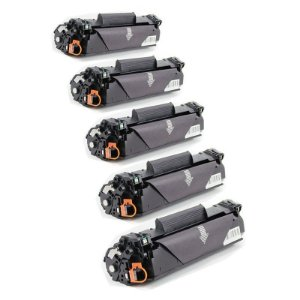 Kit com 5 Toner Compatível HP 83A CF283A M125 M127 M201 M205