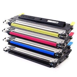 Kit 4 Toners Samsung CLP315 | 1 cada Cor Compativeis CLT409 CLX-3170 CLP 315