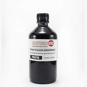 Tinta Universal para Recarga de Cartuchos Preto Corante 500ml