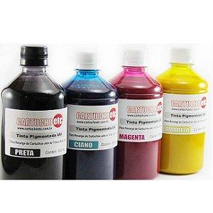 Kit 2 Litros de Tinta Inktec Pigmentada Epson 500ml de Cada Cor | 4 Cores