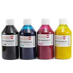 Kit 1 Litro de Tinta Inktec Pigmentada Epson 250ml de Cada Cor | 4 Cores