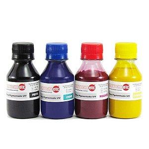 Kit 400ml de Tinta Inktec Pigmentada Epson 100ml de Cada Cor | 4 Cores
