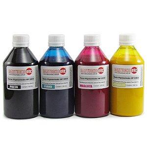 Kit 1 Litro de Tinta Inktec Pigmentada Hp Serie 8000 Pigmentada 250ml de Cada Cor