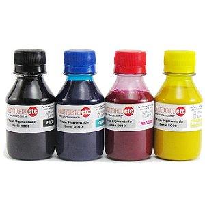 Kit 400ml de Tinta Inktec Pigmentada Hp Serie 8000 100ml de Cada Cor