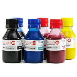 Kit 600ml Tinta Sublimatica Inktec Mizink Epson 100ml Cada Cor 6 Cores
