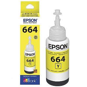 Refil Tinta Epson T664420AL Amarelo L110 L200 L210 L355 T664 Original