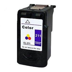 Cartucho Canon CL211 Colorido Compativel 20ml MP260 IP3600 CL 211