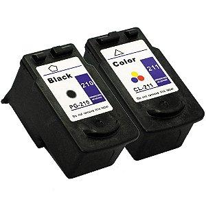 Kit Cartucho Canon PG210 Preto + CL211 Color Compativeis MP240 MP480