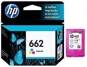 Cartucho HP 662 Colorido CZ104AB Original 2515 2516 3515 3516