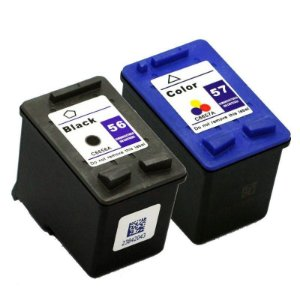 Kit Cartucho Hp 56 Preto + Hp 57 Colorido Compativel p/ 1210 1310 1315