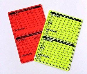 Cartão Oficial de Arbitro Fluorescente para Campo
