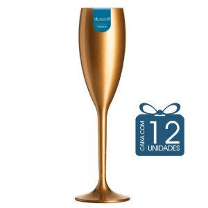 12 Taças Champagne 160 ml Dourada