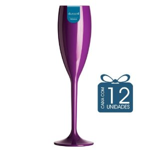 12 Taças Champagne 160 ml Roxa