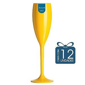 12 Taças Champagne 160 ml Amarela