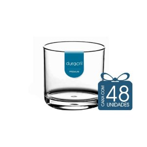 48 Copos Whisky 320 ml Transparente