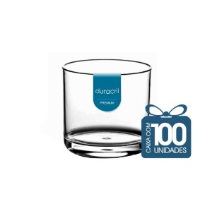 100 Copos Whisky 320 ml Transparente