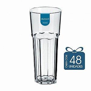 48 Copos Oitavado 350 ml Transparente
