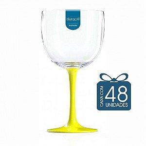 48 Taças de Gin Bicolor 580 Ml Amarela