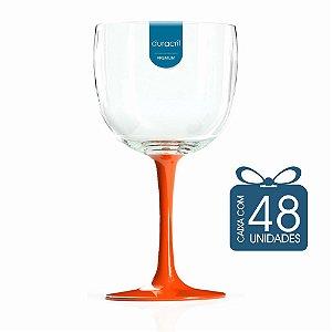 48 Taças de Gin Bicolor 580 Ml Laranja