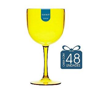 48 Taças de Gin 580 Ml Amarelo Translúcido
