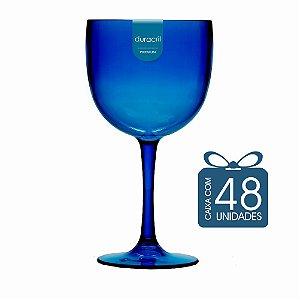 48 Taças de Gin 580 Ml Azul Escuro Translúcido