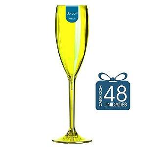48 Taças Champagne 160 ml Amarelo Neon