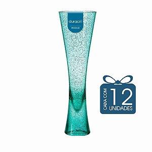 12 Taças Paris 180 ml Verde Claro Translúcido com Glitter