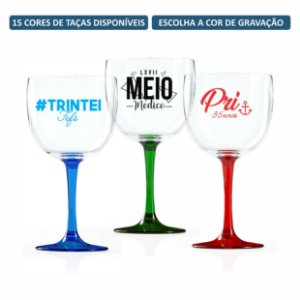 Kit Taças de Gin Bicolor 580 ml Personalizadas